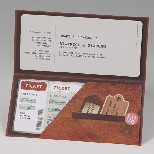 Partecipazioni Matrimonio Biglietto Aereo.Partecipazione Biglietto Aereo