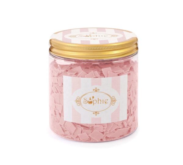 Barattolo scaglie di sapone grande rosa