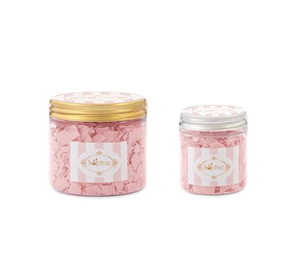 Barattolo scaglie di sapone medio e piccolo rosa