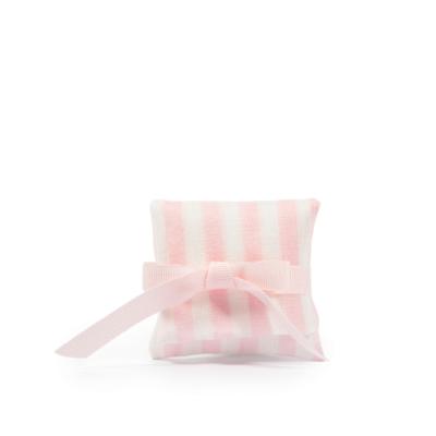 Bustina rigata H 6 cm, L 6,5 cm rosa