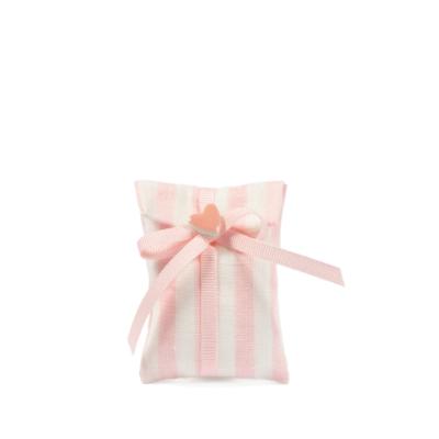 Bustina rigata H 7 cm, L 5,5 cm rosa