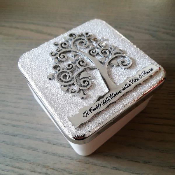 scatolina albero della vita della vita argento