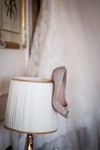 scarpe matrimonio oro