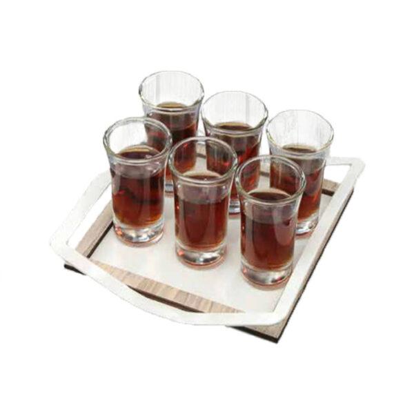 Vassoio con 6 bicchieri Easy