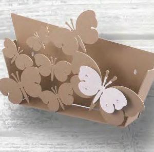 bomboniera porta lettere farfalle
