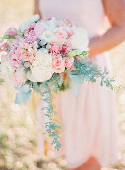 Bouquet rose peonie colori pastello