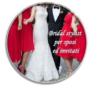 bridal gown and groom's outfit