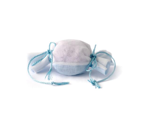 caramella lino saponi azzurro
