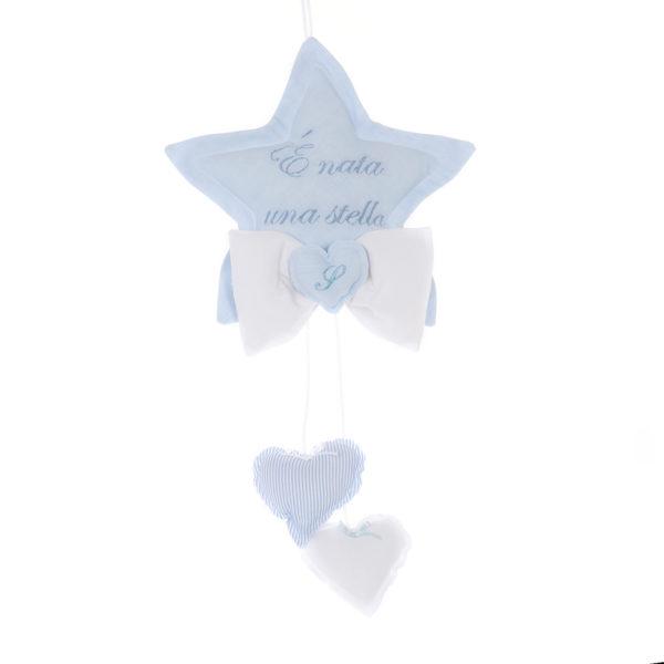 fiocco nascita stella azzurro