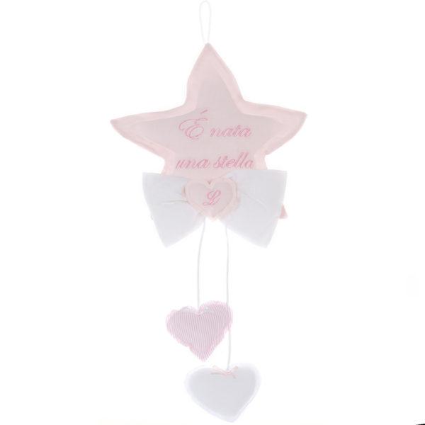 fiocco nascita stella rosa