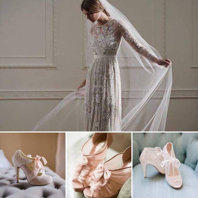 abito e scarpe da sposa retrò vintage