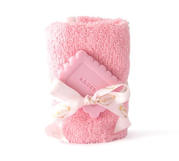 lavette sapone biscotto rosa