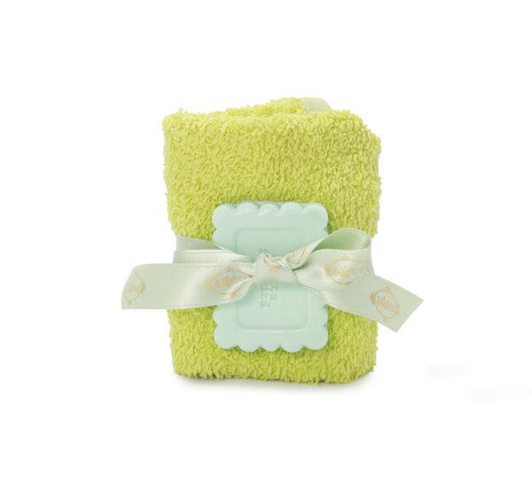 lavette sapone biscotto verde