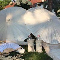 ombrello parasole carta bianco