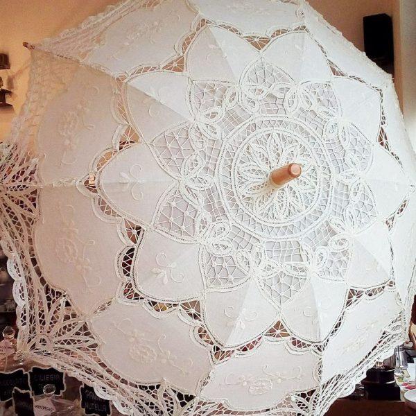 ombrello parasole sposa in pizzo