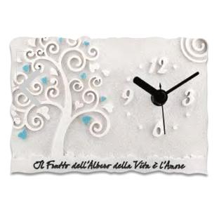 orologio albero della vita azzurro