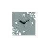 orologio quadrato fiori grigio