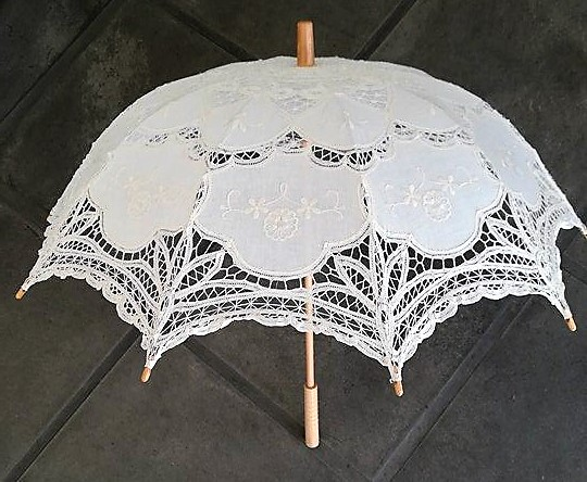 4ea5d0e0dbf Ombrello Parasole Sposa in Pizzo - via fontana 30 shop online