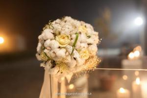 bouquet invernare con fiori di cotone