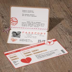 Partecipazione passaporto biglietto aereo