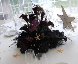 centrotavola ospiti black&sea