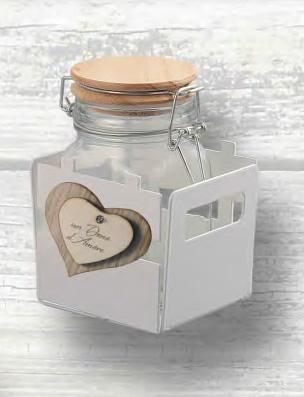 bomboniera portavasetto cuore con vasetto