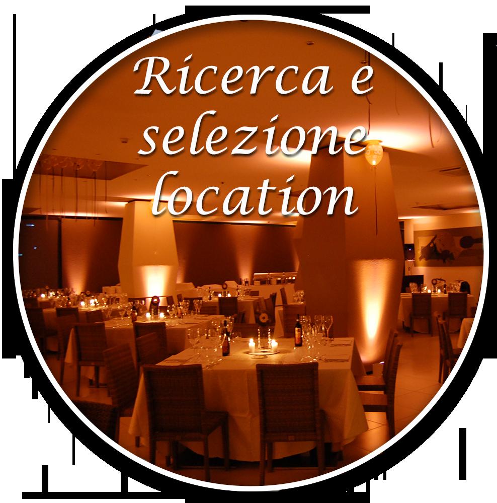 ricerca e selezione location per eventi