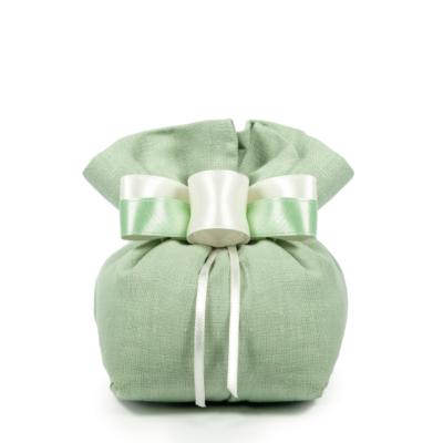 sacchetto 17 x 14 cm verde