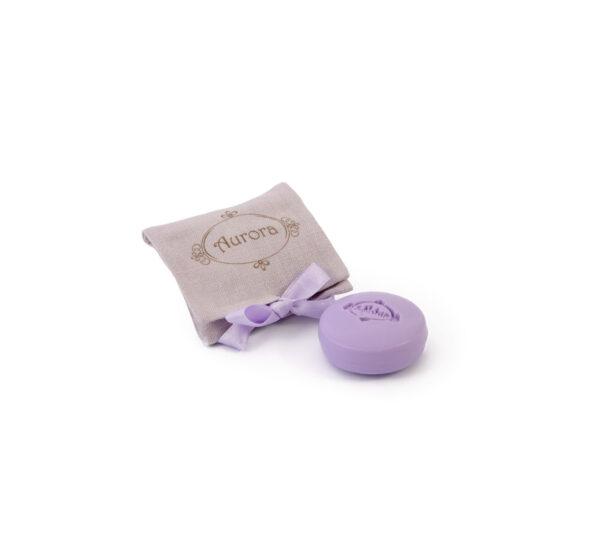 sacchetto lino 1 sapone lilla