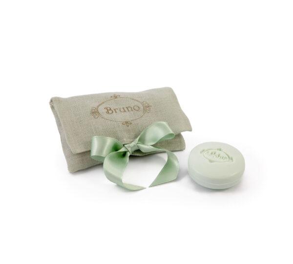 sacchetto lino 2 saponi verde