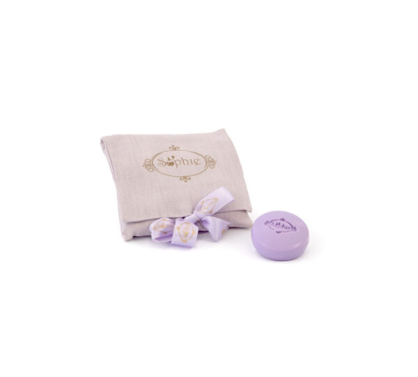 sacchetto lino 4 saponi lilla