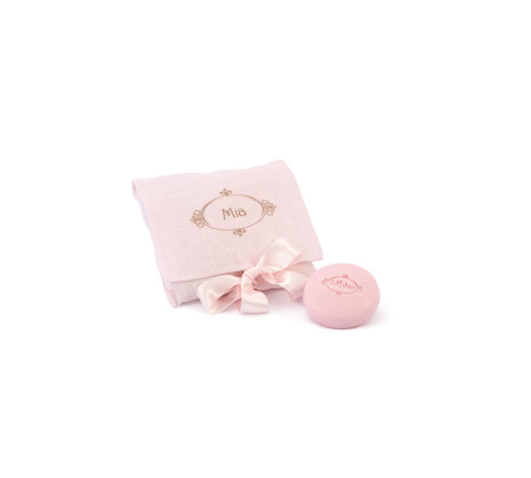 sacchetto linio 4 saponi rosa