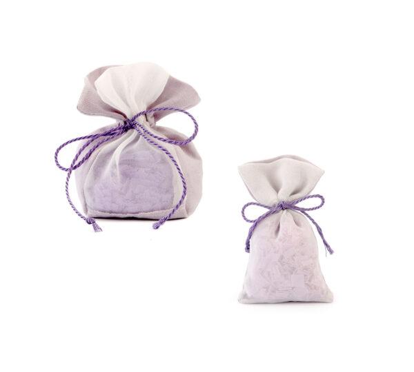 sacchetto lino saponi lilla