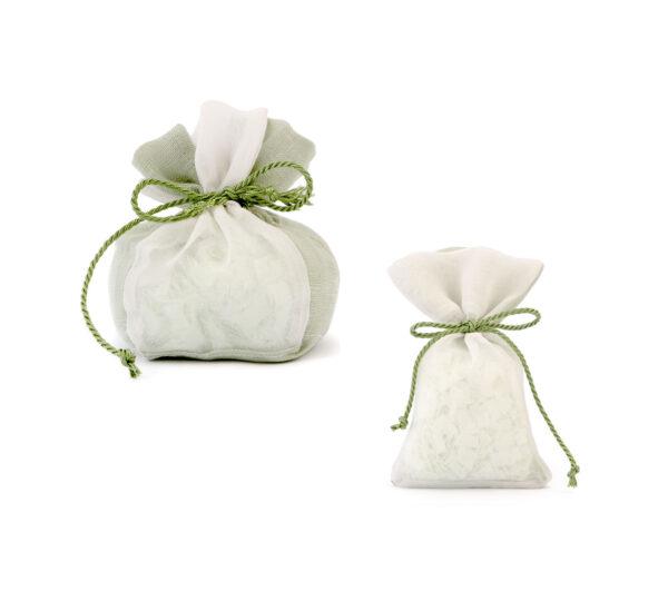 sacchetto lino saponi verde