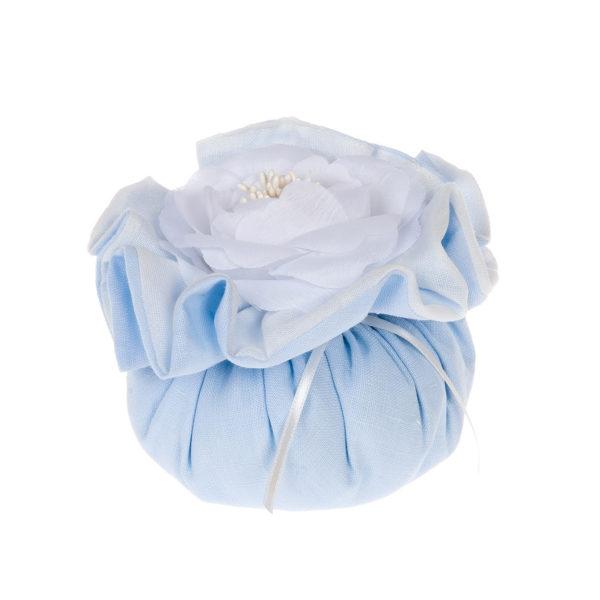 saccotto profumato con fiore azzurro