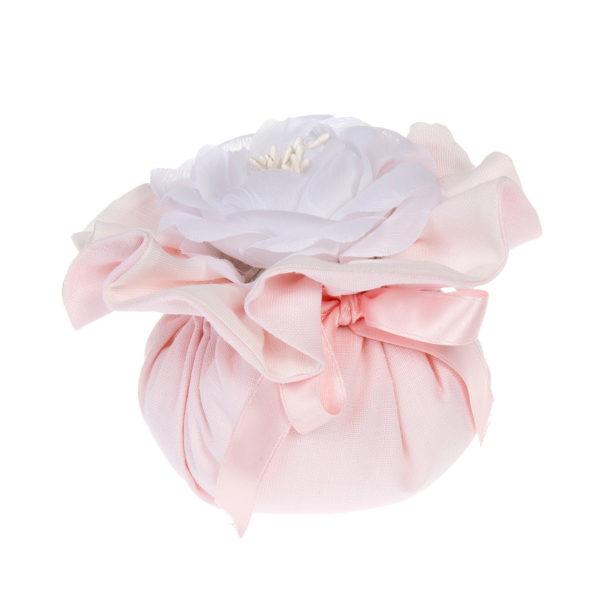 saccotto profumato con fiore rosa