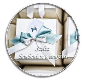 wedding favors and confetti