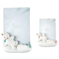 unicorno portafoto rosa azzurro