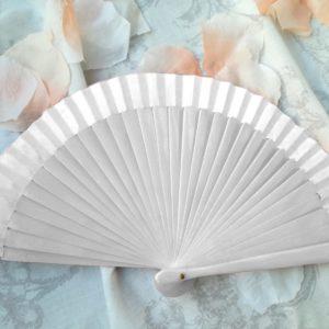 ventaglio da borsetta bianco