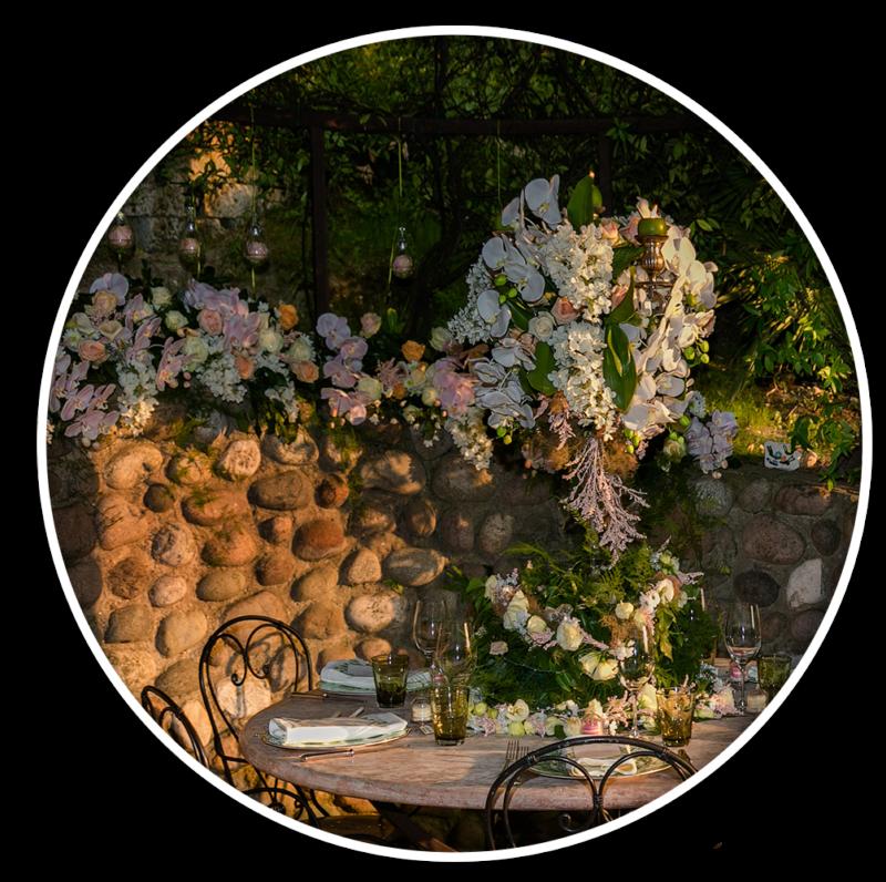 Realizzazione scenografie floreali ed allestimenti